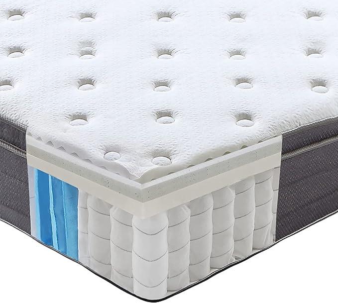 Sweet Night Spring Mattress 120 x 200 cm Orthopaedic Mattress with Cold Foam Medium Firmness H3 Height 25 cm Rolled Mattress (120 x 200 x 25 cm)