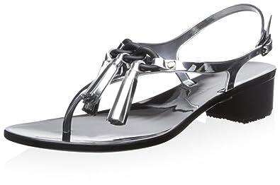 Elie Tahari Women's Big Sur Sandal, Silver, ...