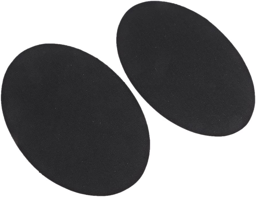 1 Pair Oval Iron//Sew On Patches Elbow Knee Repair Sewing Applique White