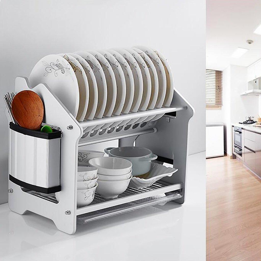 Küchenregale Regal Space Aluminium Doppelschicht Abtropfgitter