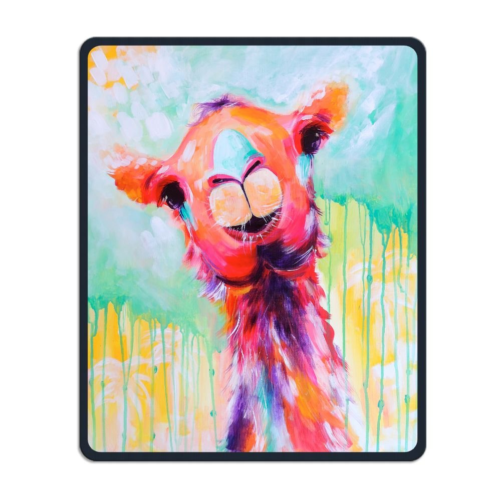 Mouse Pad Galaxy Rectangle Non-Slip Rubber Mousepad Llama Funny Watercolor Painting Print Gaming Mouse Pad THIS STORE
