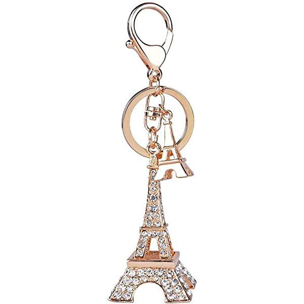 15 Pieces Eiffel Tower Keyring Retro Adornment French Souvenirs Keychains Silver