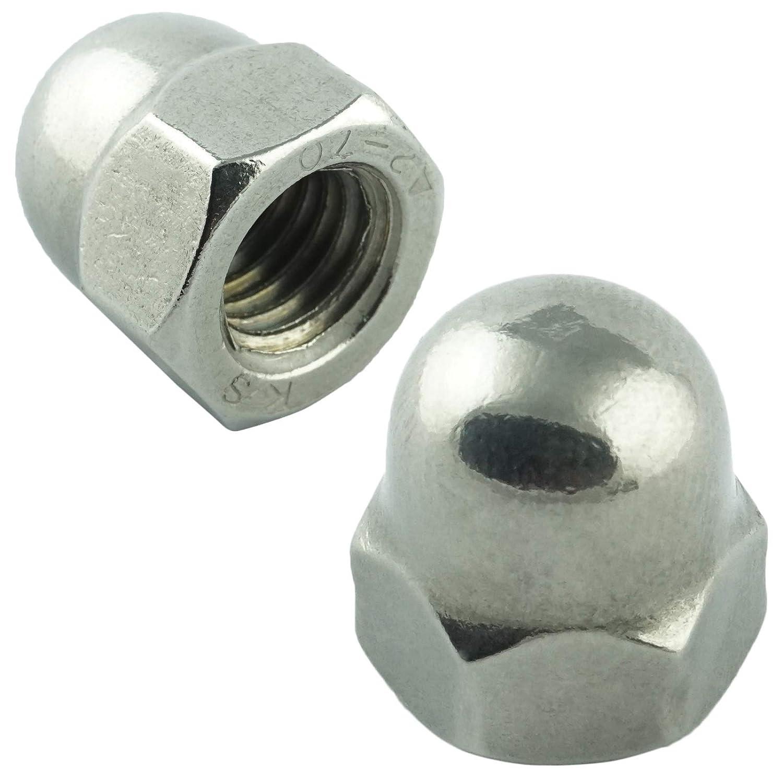 M8 Sechskant-Hutmuttern hohe Form 5 St/ück Eisenwaren2000 - DIN 1587 Edelstahl A2 V2A rostfrei