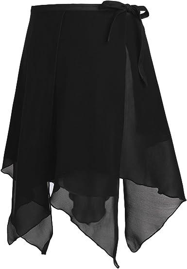 Adult Women Girls Chiffon Ballet Leotards Tutu Wrap Scarf Skirt Dance Dress Tie