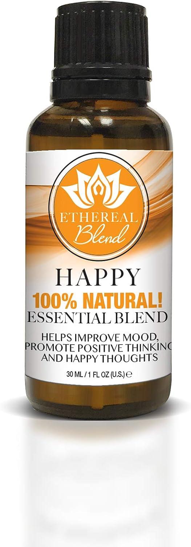 Ethereal Nature Blends 100% Natural Oil, Happy, 1 fl. oz.
