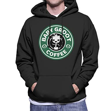 Guardians Of The Galaxy Baby Groot Coffee Starbucks Men's Hooded Sweatshirt