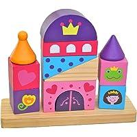 Tooky Toys - TKB494 - Château en Bois - Multicolore