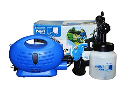 Paint Zoom CW-2005091009GM_Z1450 Plastic Electric Portable Spray Painting Machine Set (Blue, 7