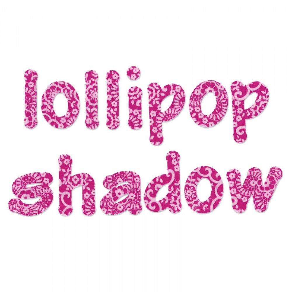 Sizzix Bigz Set di 4 Fustelle con Alfabeto 660112, Scritta Minuscole, Lollipop Shadow By E.L. Smith Ellison Europe