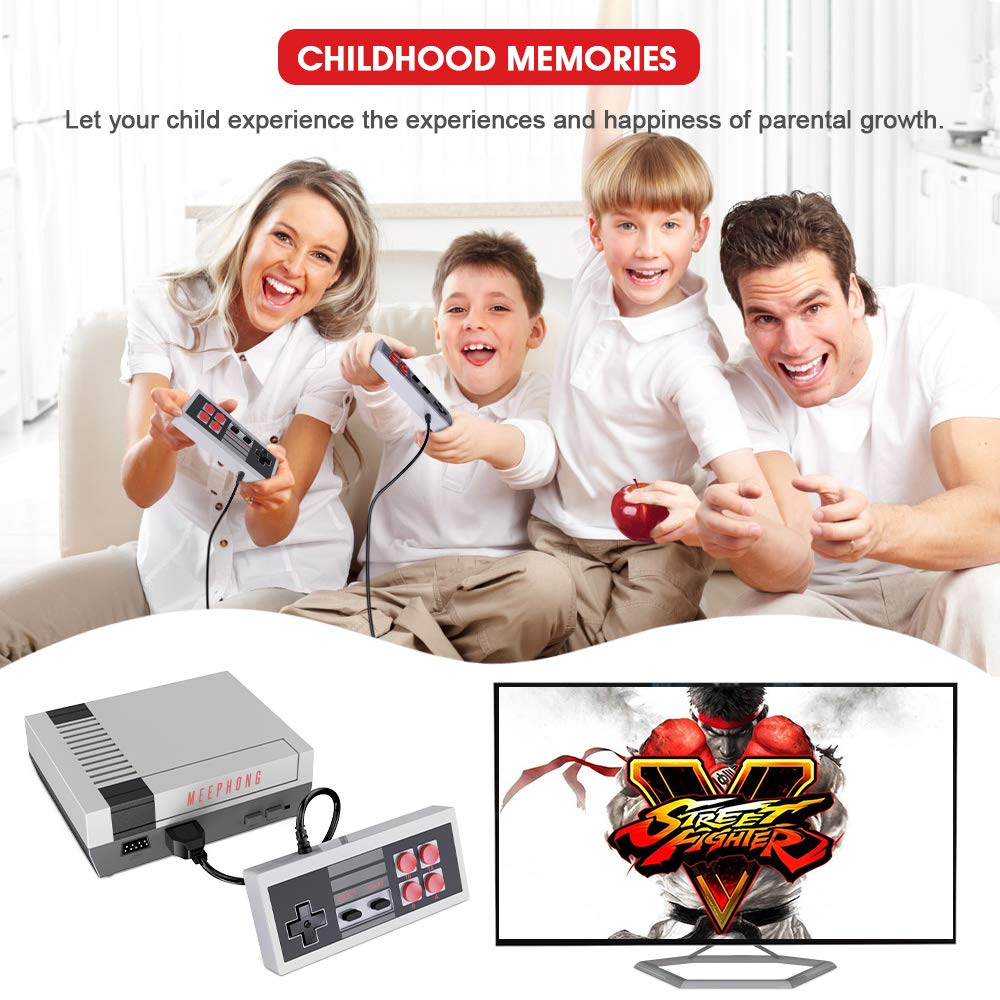 MEEPHONG Retro Game Console, HDMI HD NES Console Classic Game Console Built-in Hundreds of Classic Video Games by MEEPHONG (Image #6)