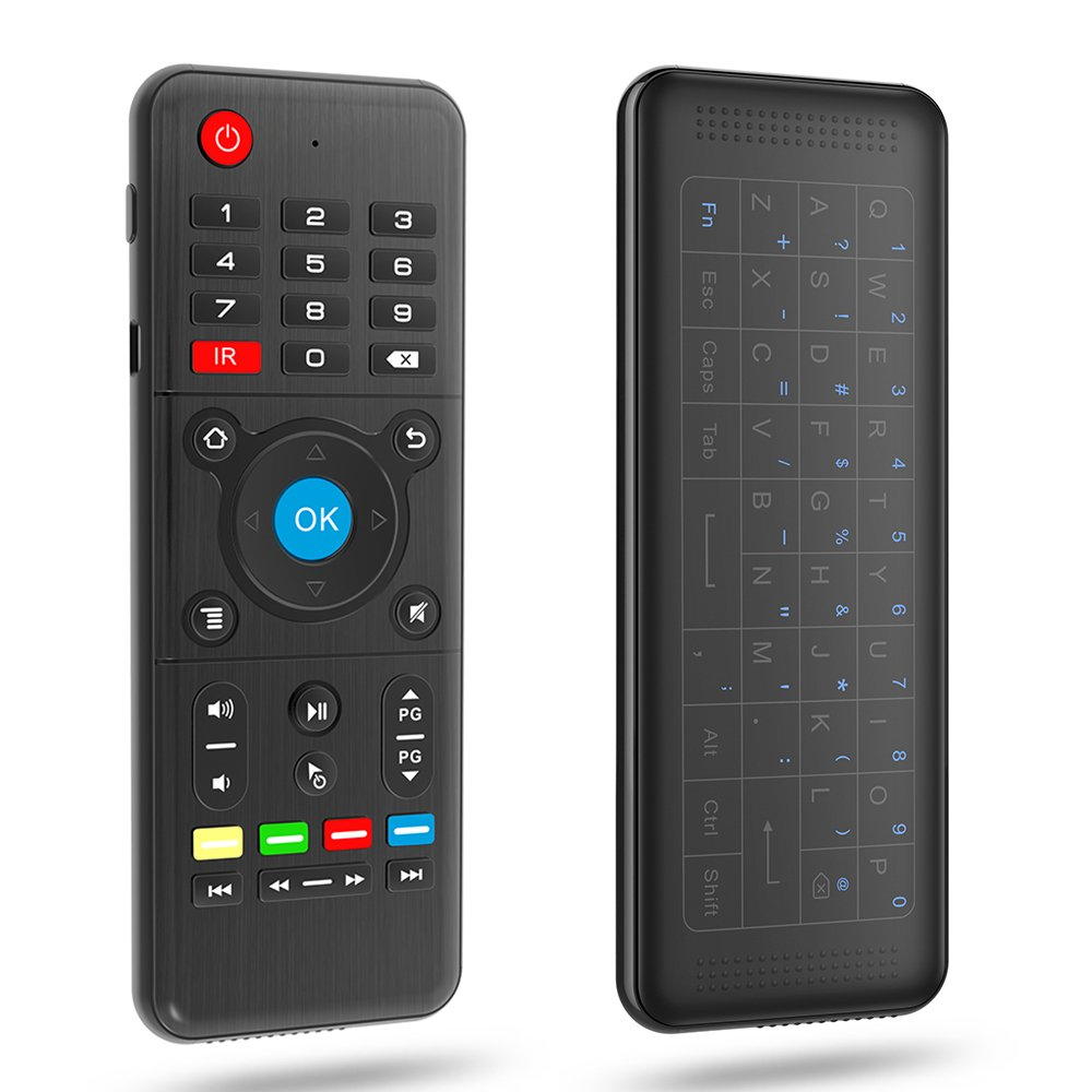 Air Mouse Wireless Keyboard Full Touchpad Remote Control IR Learning for Smart TV/Android TV BOX/Laptop/PC,H1 2.4GHz 6-Axis