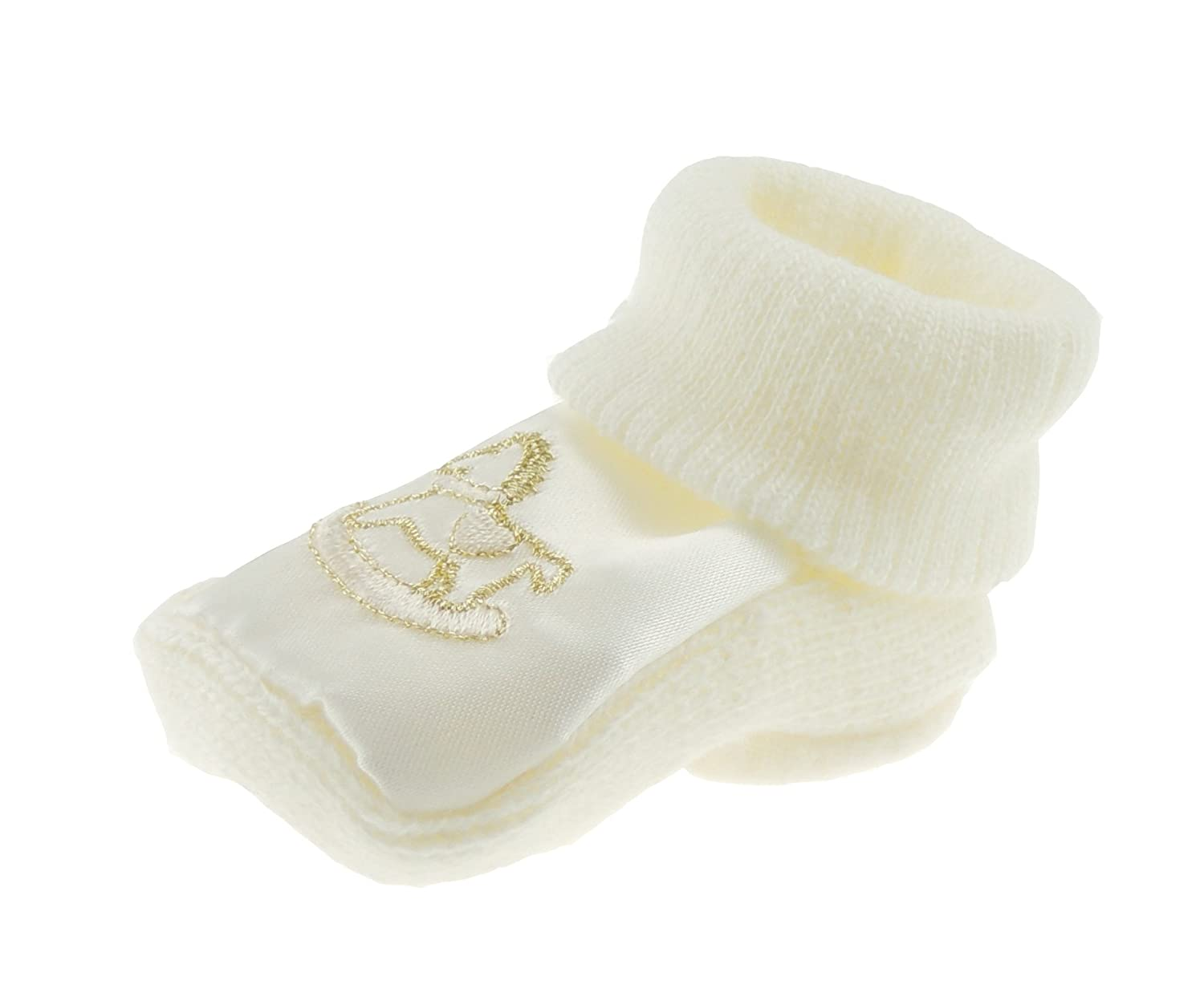 Very Baby Girls Boys Knitted Bootees Rocking Horse Satin New-born White Bear Glamour Girlz