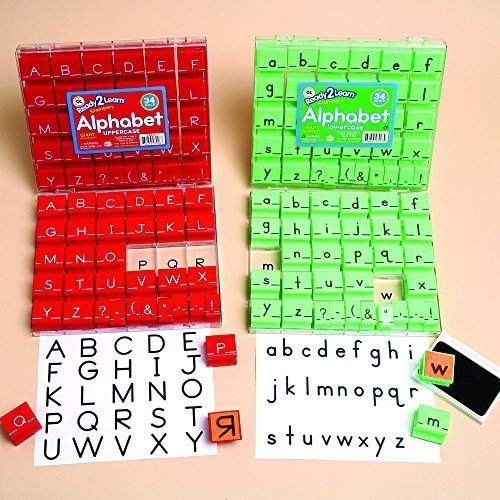 Giant Manuscript Alphabet Stampers - Upper & Lowercase Set by Constructive Playthings