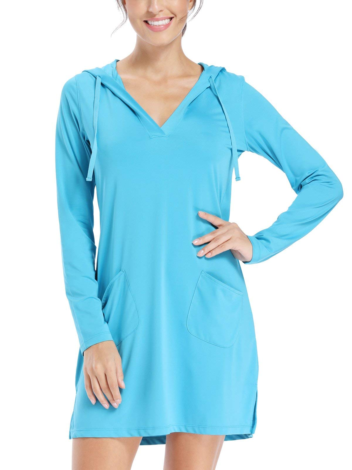 Willit Women's UPF 50+ Cover-Up Dress SPF Long