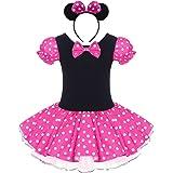 Costume per Halloween o carnevale da Minnie, per bambina Polka Dots Tutu Principessa Abiti per Natale Festa Cerimonia Compleanno Comunione Ballerina Fotografia Cosplay Travestimento Ragazze Vestito