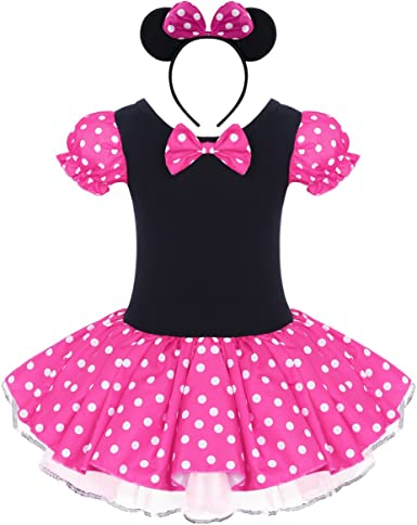 Kid Baby Girls Minnie Mouse Party Fancy Cosplay Costume Tutu Dress Headband UK