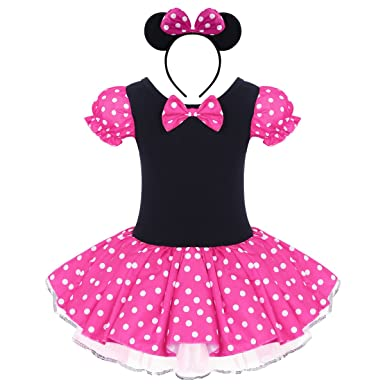 88a8123b4 Infant Baby Toddlers Girls Polka Dots Birthday Princess Bowknot Tutu Dress  Cosplay Pageant Dress up Carnival Fancy Costume Party Outfits + Headband:  ...