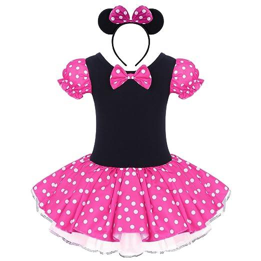 41d94826c Amazon.com: Baby Toddler Girl Minnie Costume Tutu Dress Ear Headband Outfit  Summer Polka Dot Xmas Halloween Cosplay Fancy Dress Up: Clothing