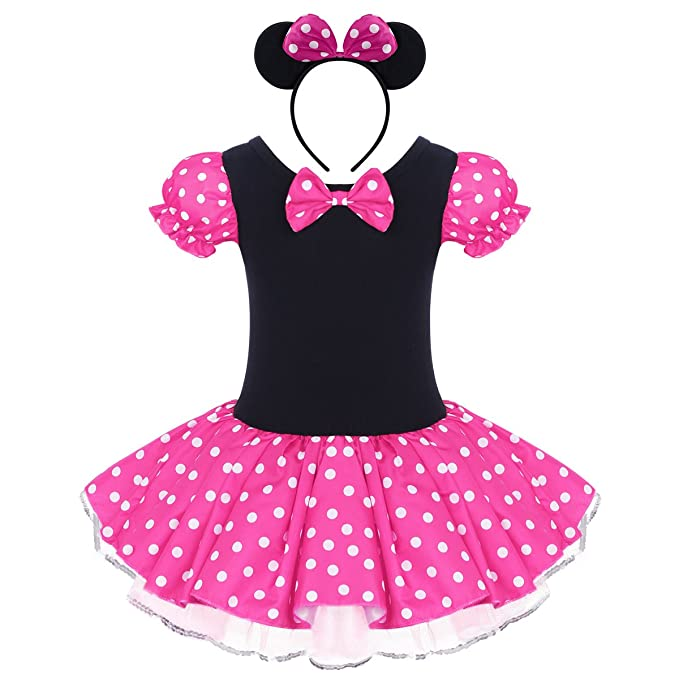 Infant Baby Toddlers Girls Polka Dots Birthday Princess Bowknot Tutu Dress Cosplay Pageant Up Carnival Fancy Costume Party Outfits Headband