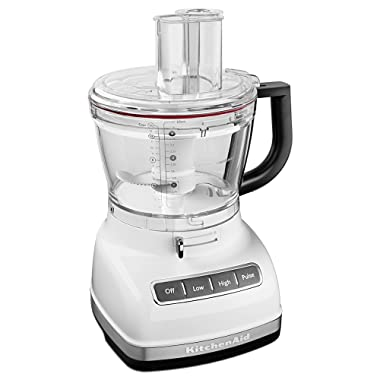 KitchenAid KFP1466WH 14-Cup Food Processor with Exact Slice System and Dicing Kit - White