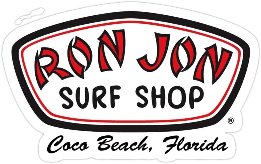 Sticker Vinyl Decal for Cars, Water Bottle, Fridge, Laptop Ron Jon Surf Shop Sticker Stickers (3 Pcs/Pack)