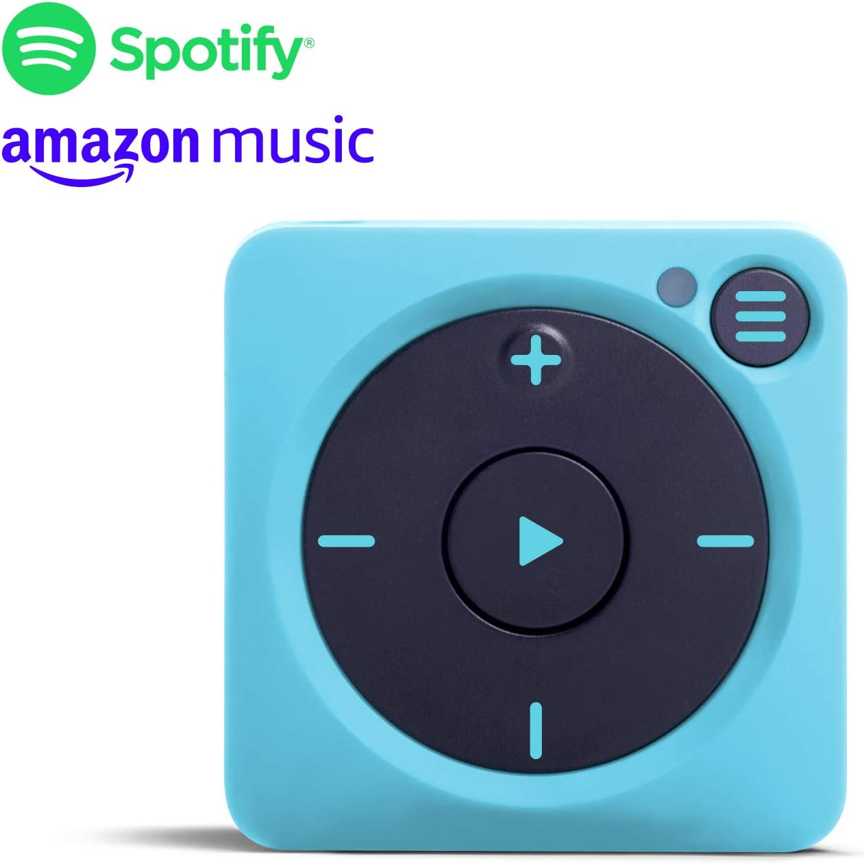 Mighty Vibe Spotify and Amazon Music Player - Bluetooth & Wired Headphones - 1,000+ Song Storage - No Phone Needed - Blue