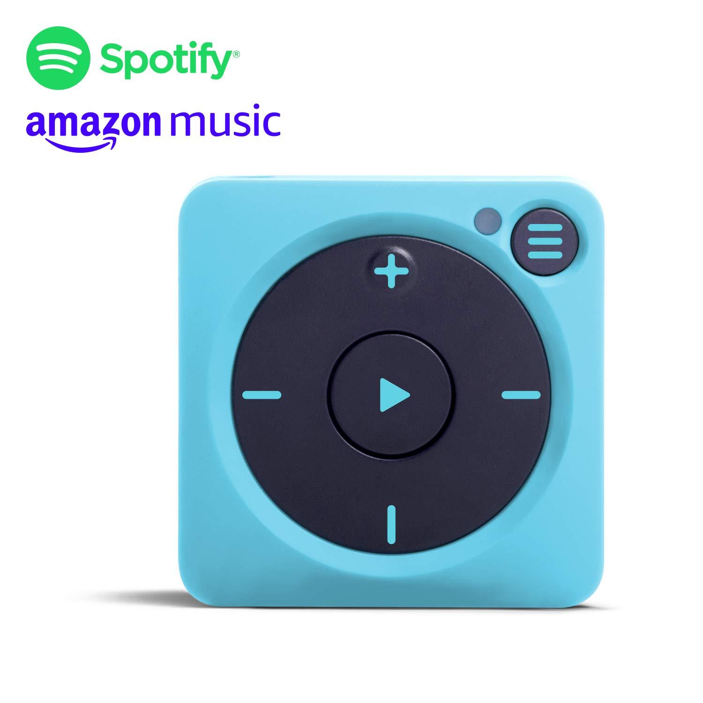 Mighty Vibe Reproductor de música Spotify y Amazon Music- Gully Blue - Clip Deportivo, para Auriculares Bluetooth y con Cable - Reproductor Streaming ...