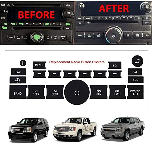 For GM Vehicles Dash Board Buttons Replacement Decals Stickers Repairing Kits