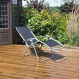 Kingfisher Gravity Garden Reclining Sun Chair Lounger
