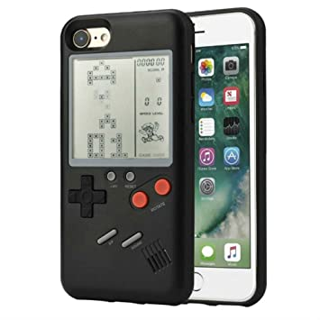 b286e321fc ゲームボーイ 風 iPhone ケース 実際に遊べるレトロゲームを多数内蔵 テトリス バトルシティー シューティング