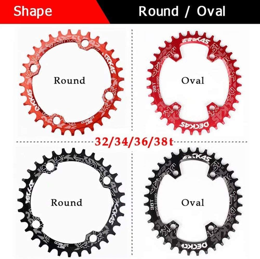 Cycling Chainset 104BCD Chainrings Sets 32-42T DZGN MTB Bike Crankset Chainring FSA Gaint Aluminum Alloy Crank Round Oval Chain for Shimano