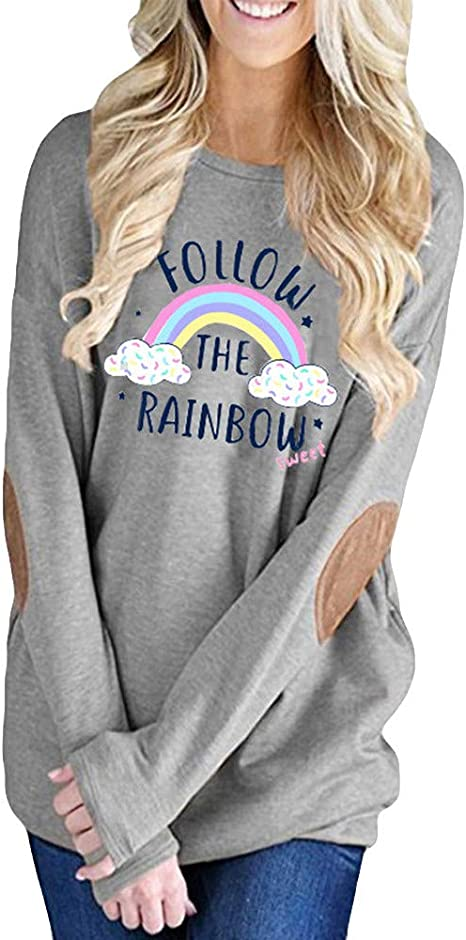 Blouses for Women,Womens Autumn O Neck Long Sleeve Letter Printing Hooded Sweater Blouse Tops