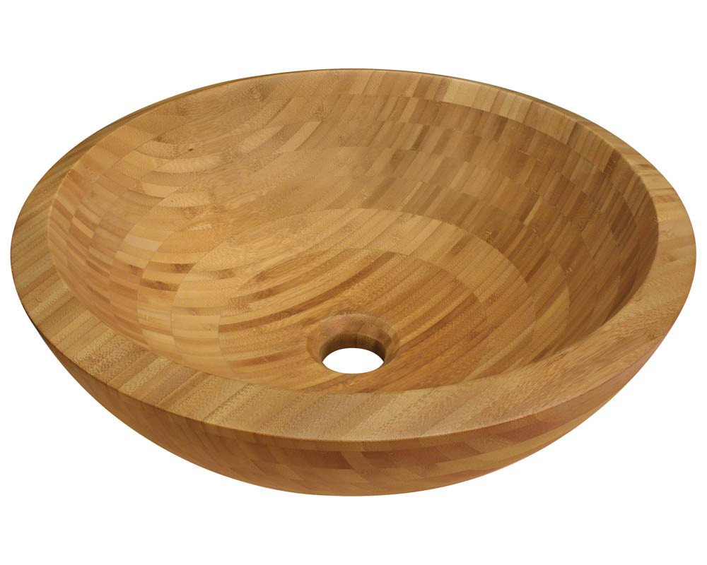 Polaris Sinks P098 16 1/2'' x 16 1/2'' x 5 3/4'' Bamboo Vessel Bathroom Sink by Polaris Sinks