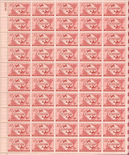 50th Anniversary of Powered Flight Sheet of Fifty 6 Cent Airmail Stamps Scott C47