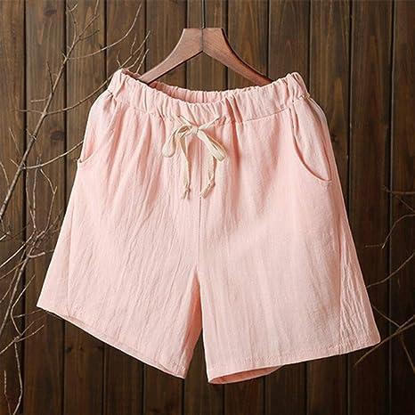 DKXLW Pantalones Cortos De Mujer,Pink Shorts Verano Mujer ...