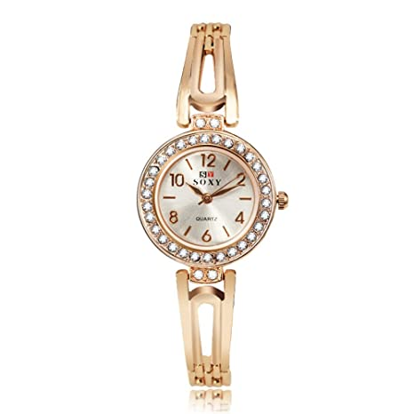 Wristwatch Reloj De Pulsera Dorado para Mujer Reloj De Pulsera para Mujer Reloj Dorado De Cuarzo