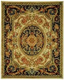 Safavieh Savonnerie Collection SAV206A Handmade Traditional European Ivory and Gold Wool Area Rug (5' x 8')