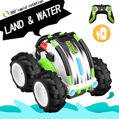 Amphibious Remote Control Car 2.4 GHZ RC Toys Water and Land Waterproof Vehicle: Toys & Games