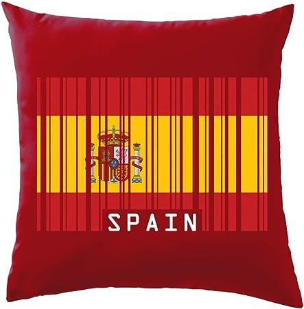 España código de barras estilo bandera – cojín 41 x 41 cm (16