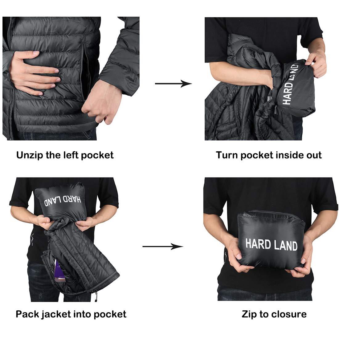 HARD LAND Damen Daunenjacke Warme Ultraleichte Puffer Jacke Wasserabweisend Sport Outdoor