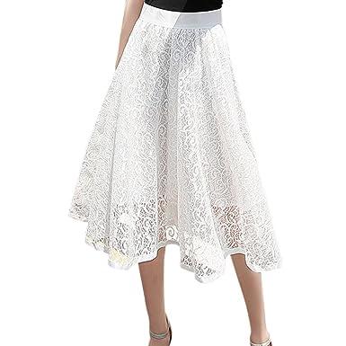 e8a1e590131dc Balai Femmes Jupe Mi-Longue Pompom Tutu Jupe Taille Haut Élégant Casual  Robe en Polyester Femme Chic Robe d'été Multi-Color