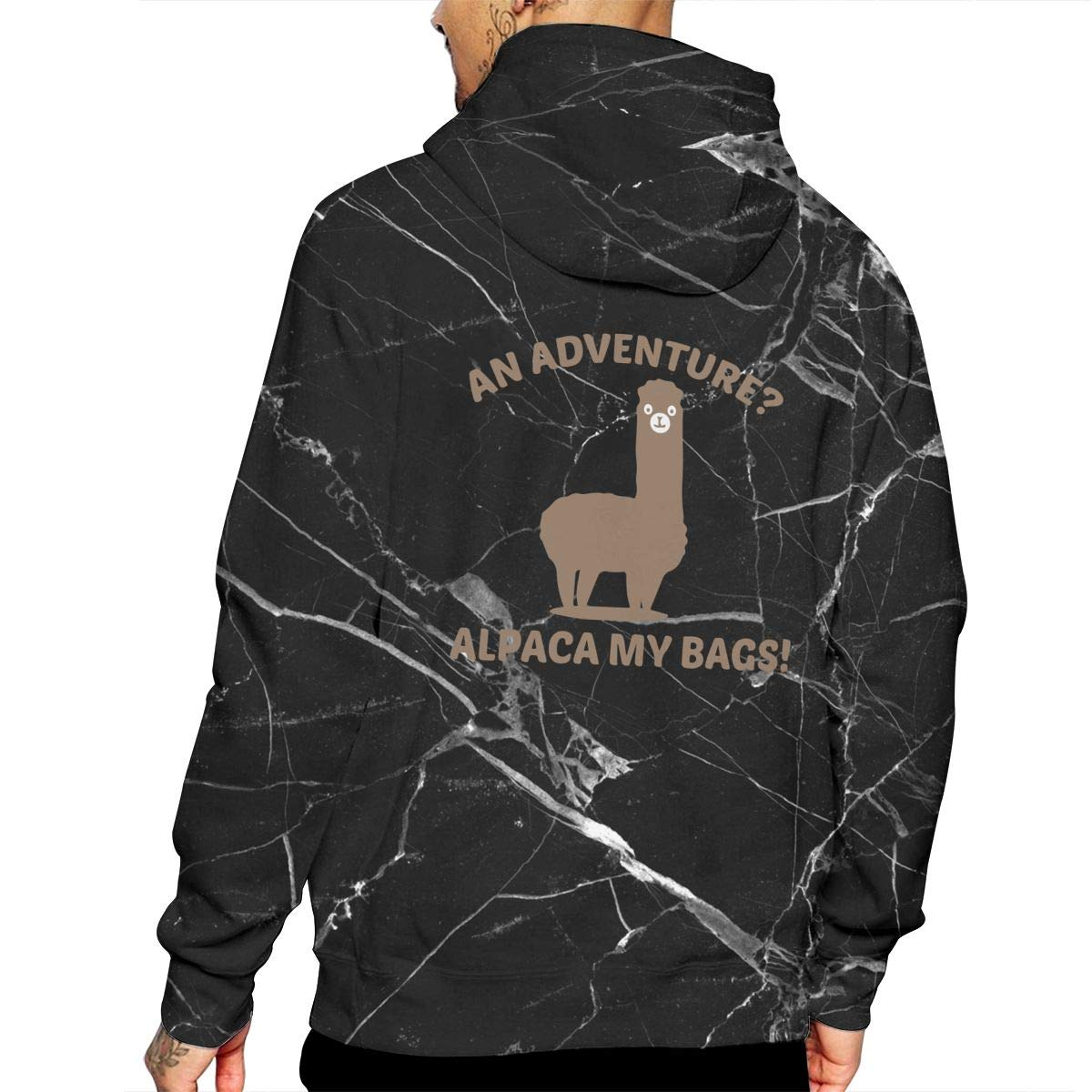 Ou50IL@WY Men Alpaca My Bags Hooded Fleece Big /& Tall 100/% Cotton Fleece Hoodie with Pocket for Men