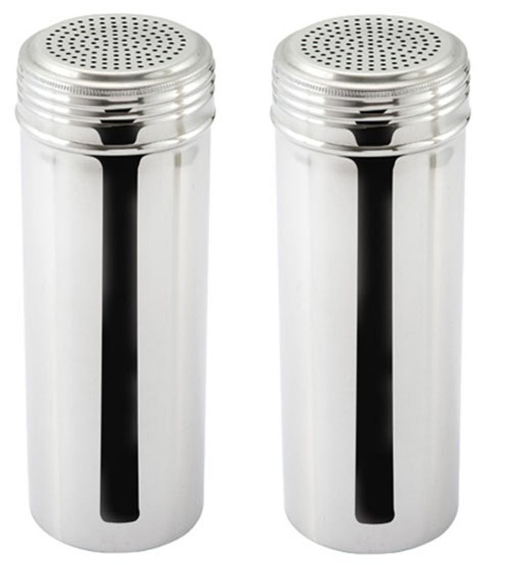 Great Credentials Stainless Steel Dredge Shaker, Without Handle 22-Ounce, Set of 2 (Large)