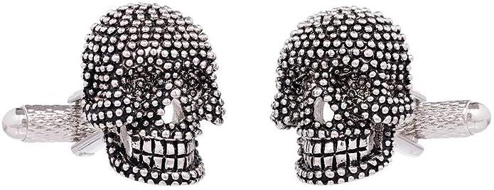 Black Skull Gothic Cufflinks Presented in Cufflink Box CK1119 Onyx art