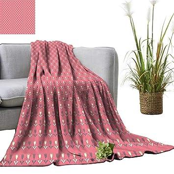 Amazon.com: YOYI Warm Blanket and Purple Tulip Flowers ...