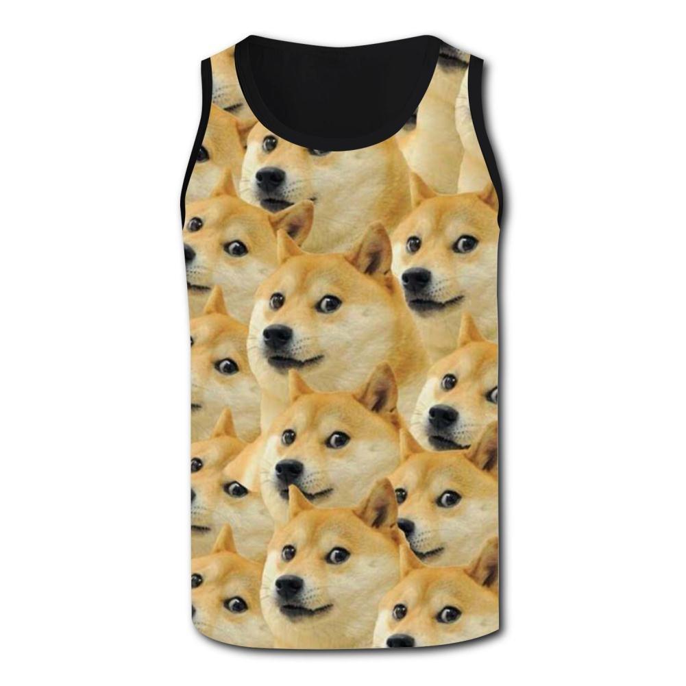 Corgi Group Tank Top Vest Shirts Singlet Tops Sleeveless Underwaist for Men Walking
