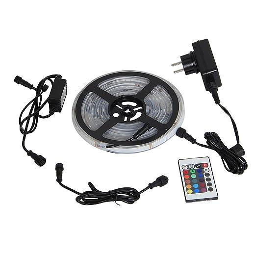 Yorbay 5M 5050 tira de leds RGB impermeable IP68 + mando a distancia IR de 24