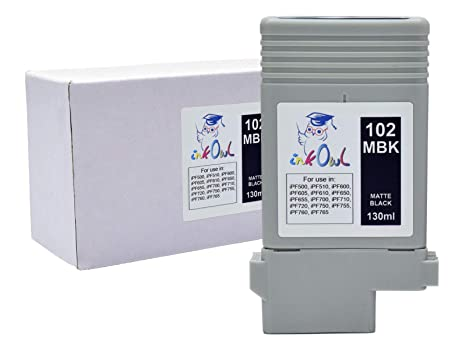 2 New Replacemet ink cartridge for Canon ipf 700 Matte Black inks