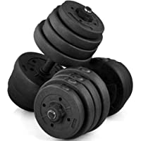 Yaheetech 66 LB Weight Dumbbell Set Adjustable Cap Gym/Home Barbell Plates Body Workout/Black