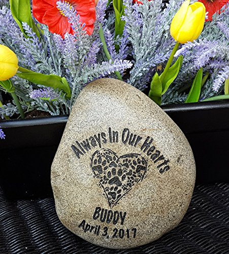 Logan Stone (God Rocks Always In Our Hearts Engraved Pet Memorial Garden Stone)